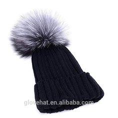 f8d898248f 2017 wholesale custom knitted winter women pom pom beanie hats in cashmere