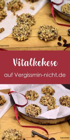 Ein leckerer und gesunder Snack aus verschiedenen Körnern, Samen und Nüssen. Sehr gut geeignet auch für Kinder. Das Vital Kekse Rezept ist super einfach.
