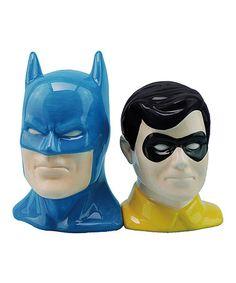 Look what I found on #zulily! Batman & Robin Salt & Pepper Shakers #zulilyfinds