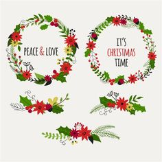 free vector Christmas and New Year wreath set with vintage flowers http://www.cgvector.com/free-vector-christmas-new-year-wreath-set-vintage-flowers/ #Art, #Background, #Beautiful, #Border, #Bow, #Branch, #Card, #Celebration, #Christmas, #Circle, #Collection, #Cute, #December, #Decor, #Decoration, #Decorative, #Design, #Doodle, #Draw, #Element, #Flower, #Frame, #Garland, #Gift, #Green, #Greeting, #Hand, #Happy, #Holiday, #Holly, #Illustration, #Isolated, #Leaf, #Merry, #New