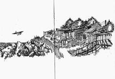 Urban Sketchers Chile: Casas con vista al mar (15/02/2015 – 20/02/2015) por Patricio Vargar.