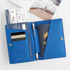 InviteL La route du bonheur passport cover holder by Invite. The La route du bonheur passport cover is a luxurious and simple passport case holder. New Passport, Passport Wallet, Passport Cover, Child Passport, Leather Accessories, Travel Accessories, Passport Holders, Travel Items, Cartonnage