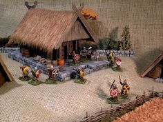 Battleground Hobbies: How to Build a Viking Lodge or Trading Post for SAGA, Warhammer, Lord of the Rings or Historical Wargames