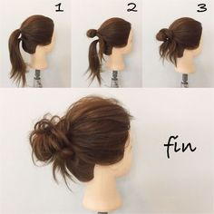 hair up for work bun * hair up for work . hair up for work easy . hair up for work pony tails . hair up for work short . hair up for work medium length . hair up for work long . hair up for work ways to wear . hair up for work bun Medium Hair Styles, Curly Hair Styles, Hair Medium, Updo Curly, Messy Bun Medium Hair, Styles For Thin Hair, Short Hair Messy Bun, Easy Hair Styles Quick, Messy Bun Updo
