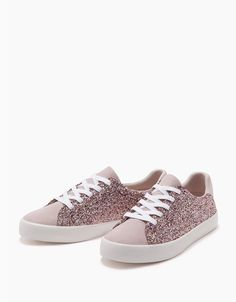 Lace-up shiny contrast shoes - Trainers - Bershka United Kingdom