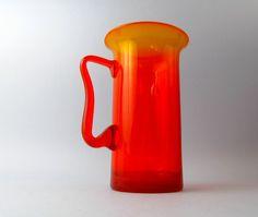 Zbigniew Horbowy, pitcher art glass, Poland, circa 1970