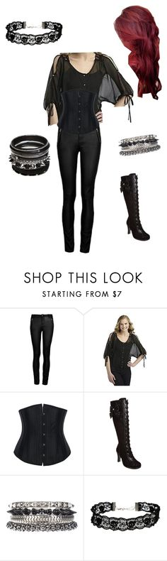 """""""day off from work outfit"""" by cryingwolf ❤ liked on Polyvore featuring Ally Fashion, Demonia, 1&20 Blackbirds and ASOS"""
