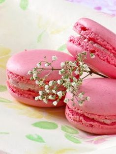 Little more macarons, pretty pink raspberry ones