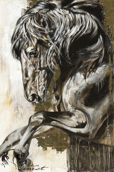 Toiles passées - past paintings — Elise Genest Abstract Horse Painting, Yarn Painting, Watercolor Horse, Horse Mural, Horse Wall Art, Horse Artwork, Painted Horses, Native American Horses, Horse Anatomy