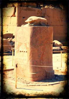 The scarab at Luxor temple - there is a myth that says if you rotate around the scarab x number of times you will bring a new life into the world.