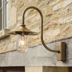 Bring a creative touch to your garden by using our striking brass outdoor Granary Wall Light as part of your outdoor lighting scheme. Hand crafted from solid, natural brass, the Granary has a weighty Outdoor Wall Lighting, Exterior Lighting, Outdoor Walls, Lighting Ideas, Cottage Lighting, Garden Wall Lights, Natural Building, Curtain Poles, Antique Lighting
