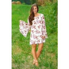 Floral It's Worth Tunic-Ivory - $42.00