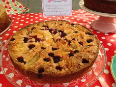 Gluten free apple and blackcurrant almond cake