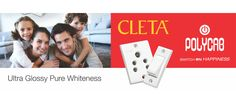 Polycab Cleta Switches : Ultra Glossy Pure Whiteness Switches. #HouseElectricalWiring http://buff.ly/1Eo8jHm