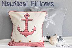 diy nautical pillows, crafts, design d cor