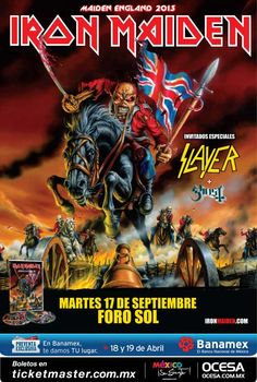 Iron Maiden, Slayer y Ghost en el Foro Sol