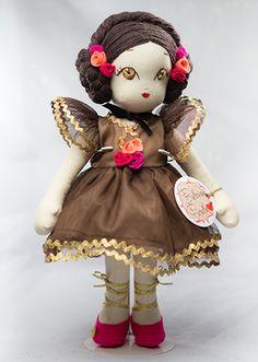 Ballerina Fiorella Handmade Collection Cloth Dolls by Manolitas ♡ Art Dolls, Ballerina, Doll Clothes, Fairy Tales, Teddy Bear, Textiles, Christmas Ornaments, Trending Outfits, Holiday Decor