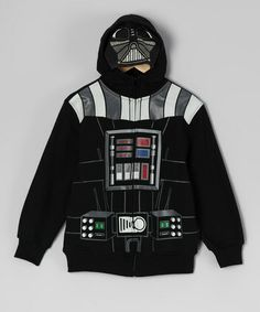 Take a look at this Star Wars Black Darth Vader Zip-Up Hoodie - Toddler & Boys by Star Wars on #zulily today!