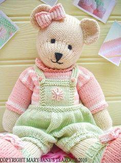 «Конфетный» медвежонок спицами от Мэри Джейн - Игрушки