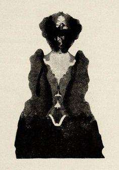 Justinus Kerner   From Kleksographien   1890