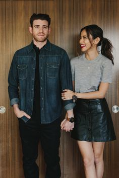A couple of Fossil Q smartwatches for a smart looking couple—Bryan Greenberg and Jamie Chung.
