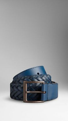 Woven Leather Belt | Burberry