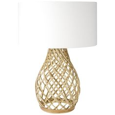 Twine Wicker Table Lamp 60cm $129  This is an option for the master bed (Just make sure its not too big for your bed side tables). Its a lovely shape and give a nod to 'beach'
