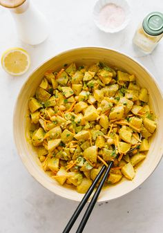 CURRIED POTATO + CHICKPEA SALAD