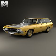 Ford Torino 500 Station Wagon 1971 3d model from humster3d.com. Price: $75