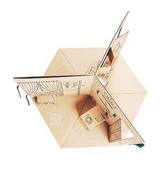 Three room fold-up doll house