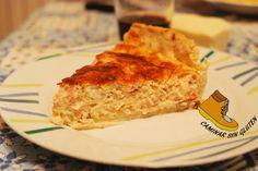 CAMINAR SIN GLUTEN: Quiche a los tres quesos con fiambre de pechuga de pavo…