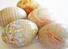 Easter Eggs Old World Creme Pastel Easter Eggs by CatnipStudioToo, $33.00