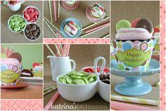Dotty Cupcakes Tablescape   www.inkatrinaskitchen.com