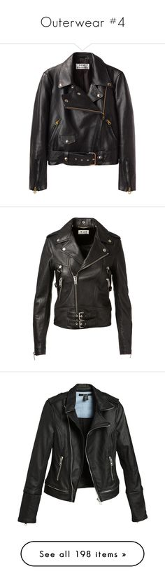 """""""Outerwear #4"""" by homewrecker95 ❤ liked on Polyvore featuring outerwear, jackets, coats, coats & jackets, leather biker jacket, motorcycle jacket, shiny jacket, biker jacket, zipper jacket and zipper leather jacket"""