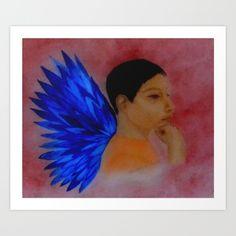 Thinking by Saribelle Rodriguez Art Print by Saribelle Inspirational Art   Society6