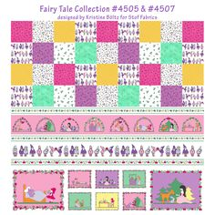 Fairy Tale Collection designed by Kristine Böltz for Stof Fabrics. 2015 Spring released. Coordinate with #4517 Quilters Basic Memory and #4519 Quilters Basic Perfect.