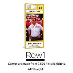 #SMM #Pinterest #pins #socialmedia #startups #startup #BlackFriday #BlackFriday #growthhacking 1983 #Oklahoma Sooners ticket art on canvas. #Row1 #47Straight #BoomerSooner