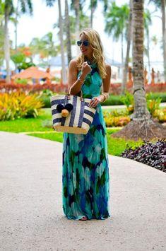 robe maxi imprimé tropical mode tendance invitée mariage été