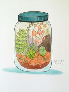 Cute Kawaii Drawings, Kawaii Art, Arte Indie, Cute Art Styles, Plant Art, Art Plastique, Cute Illustration, Aesthetic Art, Doodle Art