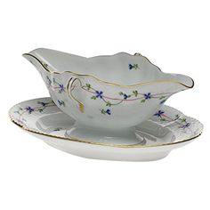 Herend Blue Garland Gravy Boat, 2015 Amazon Top Rated Gravy Boats & Stands #Kitchen