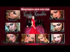 vídeo com diversas maquiagens