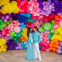The beauty in these multi colour balloons is so captivating ❤️💙💜🧡💛💚 by and photography by Rainbow Balloons, Colourful Balloons, Mylar Balloons, Baby Shower Balloons, Rainbow Party Decorations, Birthday Balloon Decorations, Birthday Balloons, Balloon Backdrop, Balloon Wall