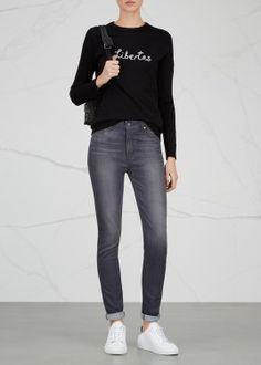 Hoxton grey Transcend skinny jeans