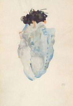 Egon Schiele, Kauernder, 1912.