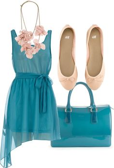 """""""Matchy Matchy: Teal and Pink"""" by karrina-renee-krueger on Polyvore"""