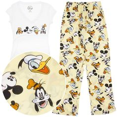 Amazon.com: Disney Friends Pajamas for Women L: Clothing