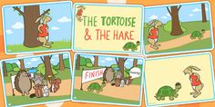 The Tortoise and The Hare Story Sequencing Cards