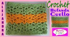 """Bufanda Cuello en Crochet /Collar """"Alejandra"""" (Parte 1) Tutorial por Mar..."""