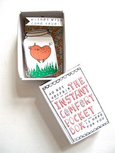 love!  Instant Comfort Pocket Box  Jumping pig by kimslittlemonsters, €7.95