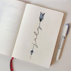 10 Bullet Journal Themes For July That Are Perfect For Summer Break! You NEED to see these bullet journal hacks that actually work! These hacks make bullet journaling easier, less stressful and more productive. Bullet Journal Inspo, Bullet Journal Titles, Bullet Journal Cover Page, Bullet Journal Notebook, Bullet Journal Spread, Bullet Journal Aesthetic, Bullet Journals, Bullet Journal 2019 Calendar, Bullet Journal Finance